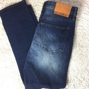 William Rast Dean Slim Straight dark wash jeans